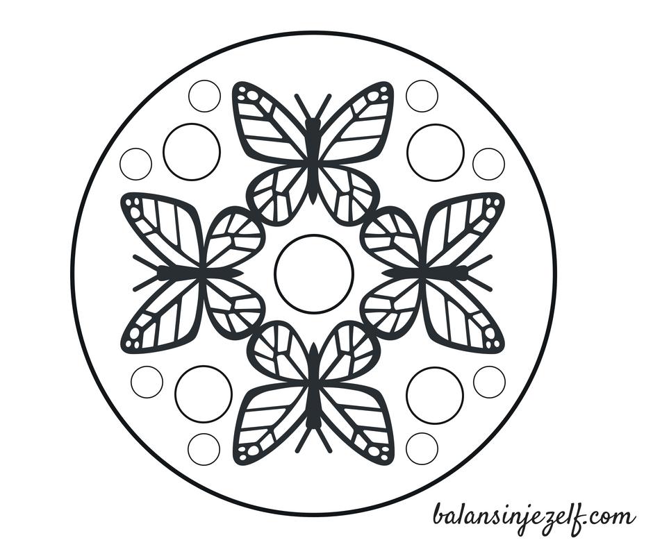 Mandala Kleurplaten Balans In Jezelf