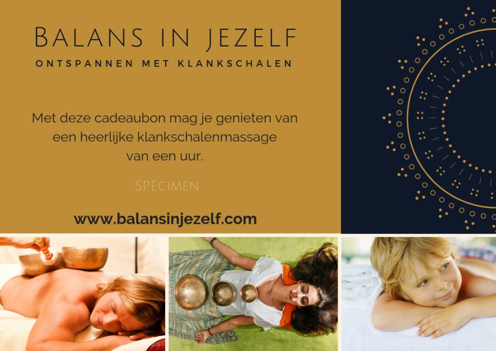 Cadeaubon voor een ontspannen klankschalenmassage, kadobon massage, Arnhem, Ede, Wageningen, Nijmegen, Ervaar balans in jezelf bij Linda