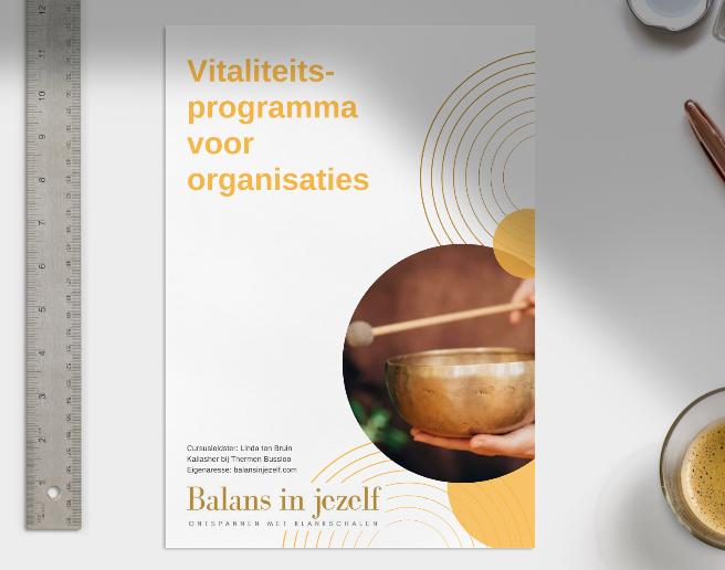 Vitaliteitsprogramma voor organisaties en bedrijven in omgeving Arnhem.